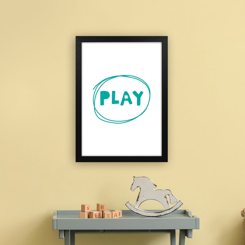 Play Teal Super Scandi  Art Print by Pixy Paper A3 White Frame