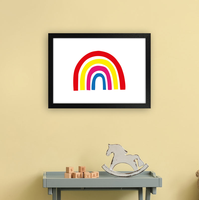 Rainbow Red  Art Print by Pixy Paper A3 White Frame