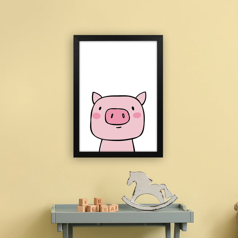 Pig  Art Print by Pixy Paper A3 White Frame