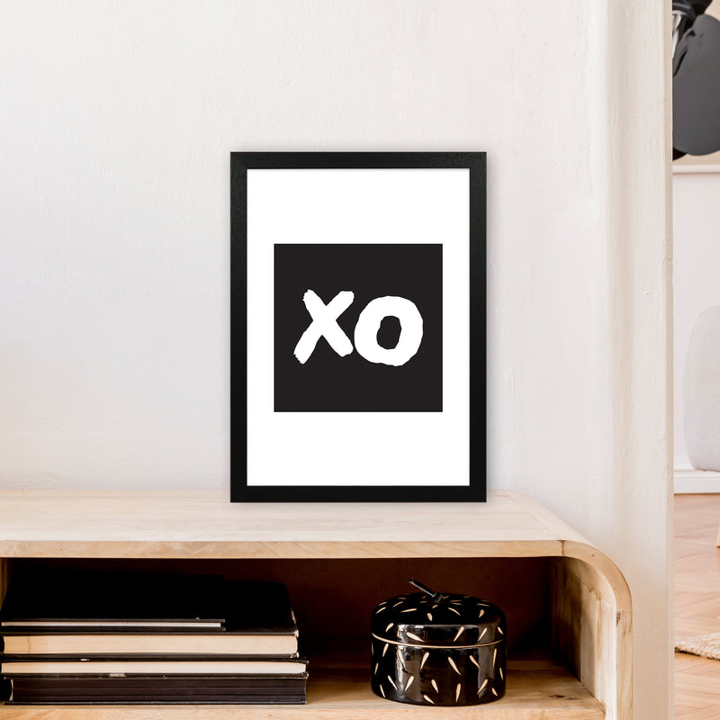 Xo Black Box  Art Print by Pixy Paper A3 White Frame