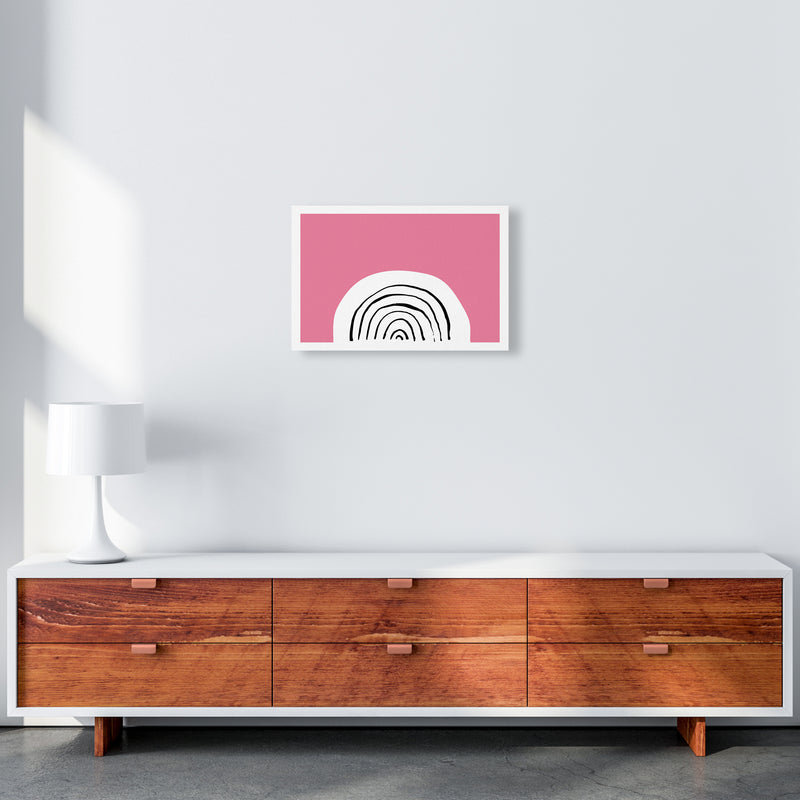Pink Rainbow Neon Funk  Art Print by Pixy Paper A3 Canvas