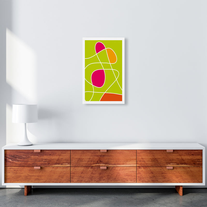 Lime Mess Neon Funk  Art Print by Pixy Paper A3 Canvas