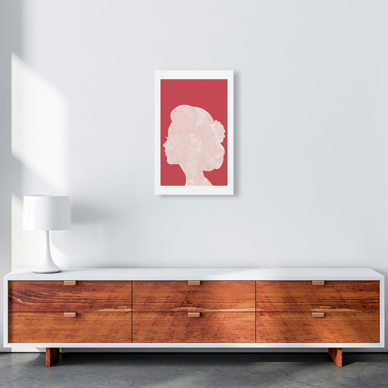 Marble Head Red  Art Print by Pixy Paper A3 Canvas
