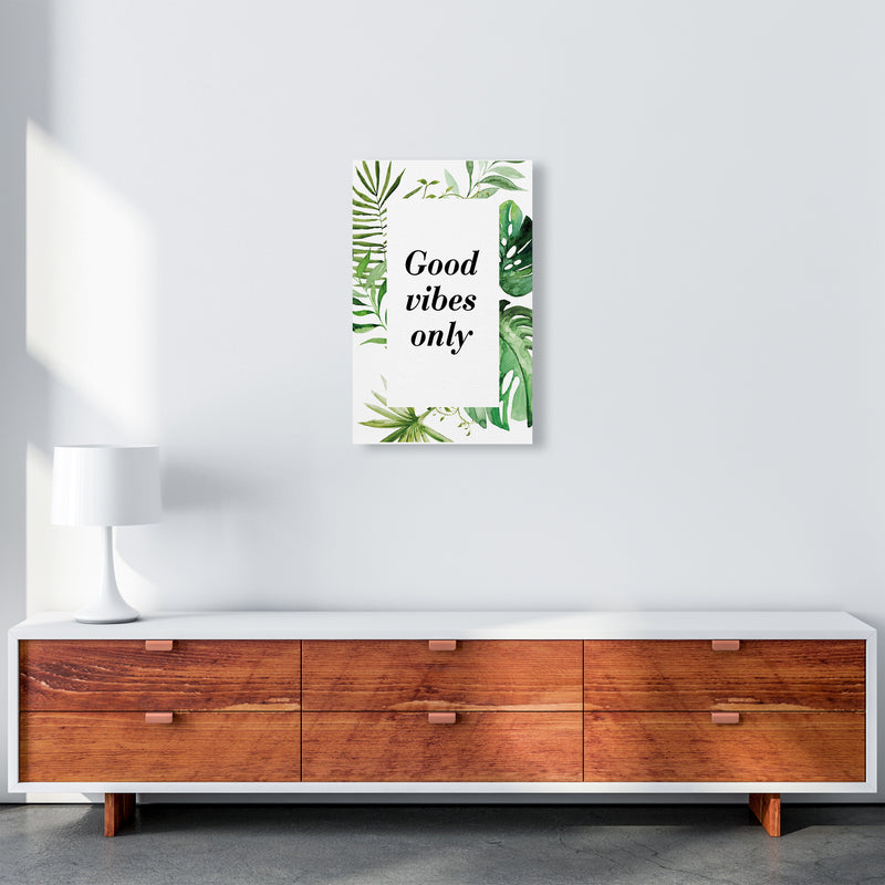 Good Vibes Only Exotic  Art Print by Pixy Paper A3 Canvas