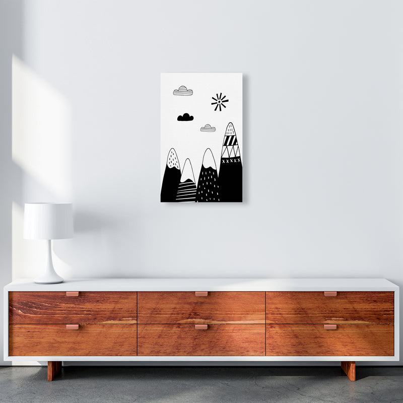 Scandinavian Mountains  Art Print by Pixy Paper A3 Canvas