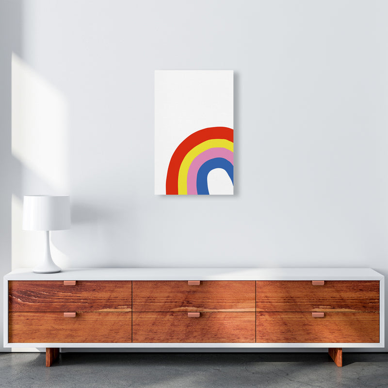 Rainbow In Corner  Art Print by Pixy Paper A3 Canvas