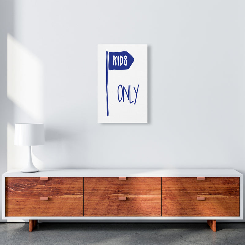 Kids Only Navy  Art Print by Pixy Paper A3 Canvas