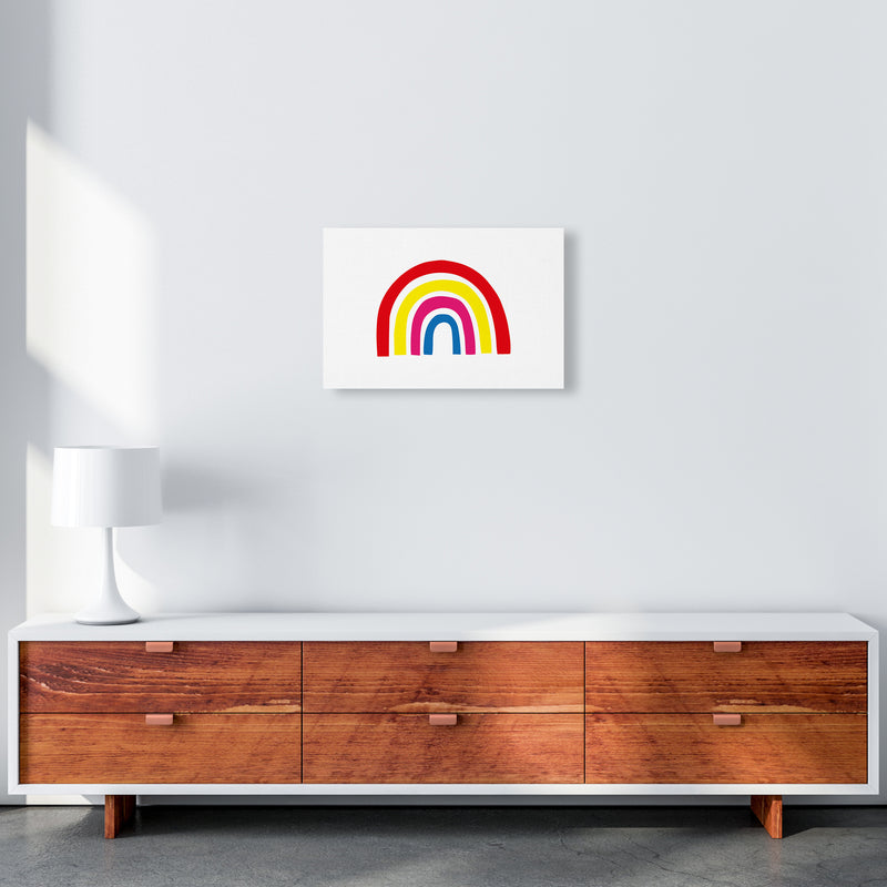 Rainbow Red  Art Print by Pixy Paper A3 Canvas