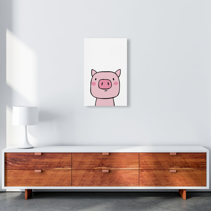 Pig  Art Print by Pixy Paper A3 Canvas