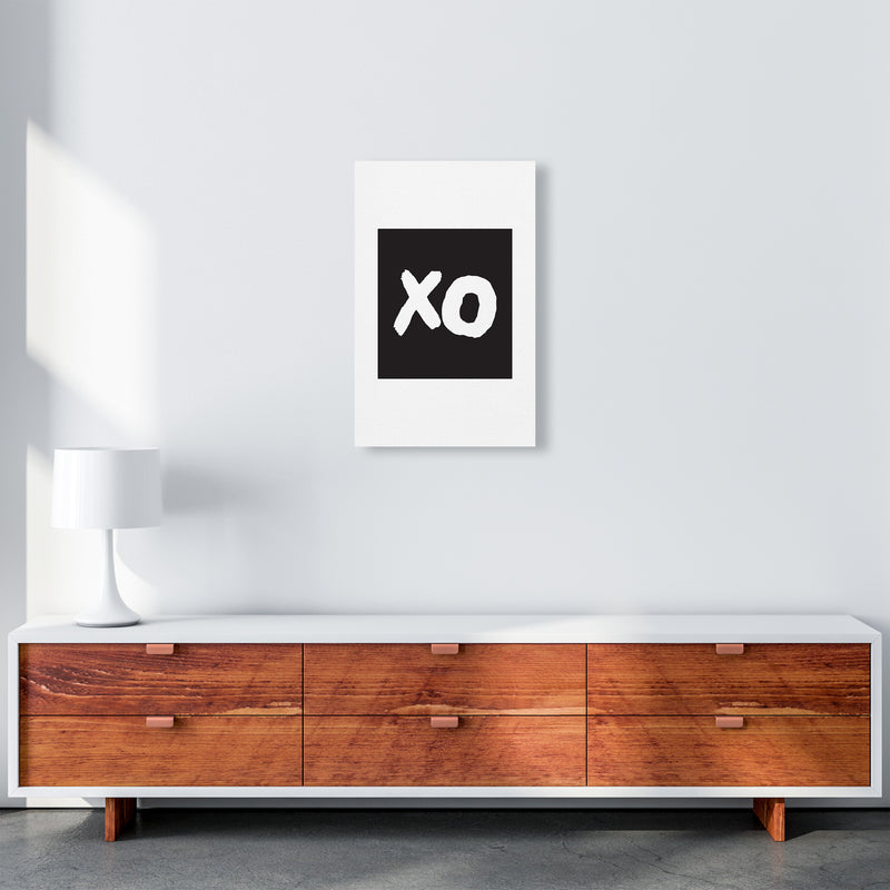 Xo Black Box  Art Print by Pixy Paper A3 Canvas