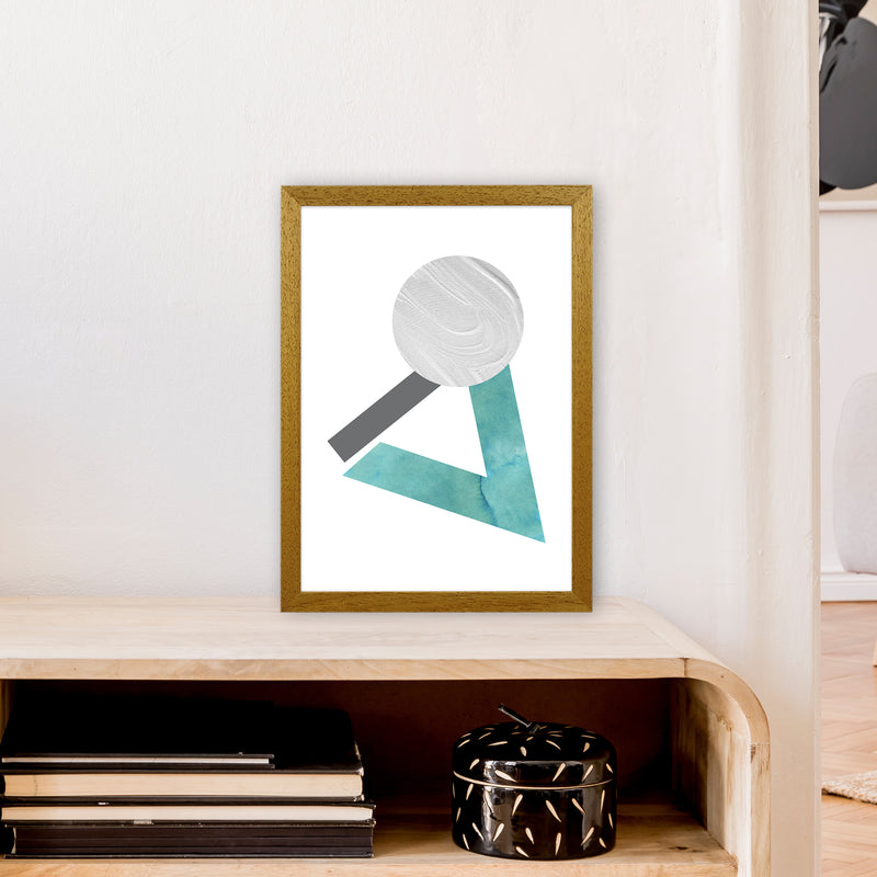 Marble Teal And Silver 3 Art Print by Pixy Paper A3 Print Only