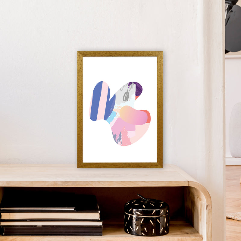 Pink Butterfly Abstract Shape  Art Print by Pixy Paper A3 Print Only
