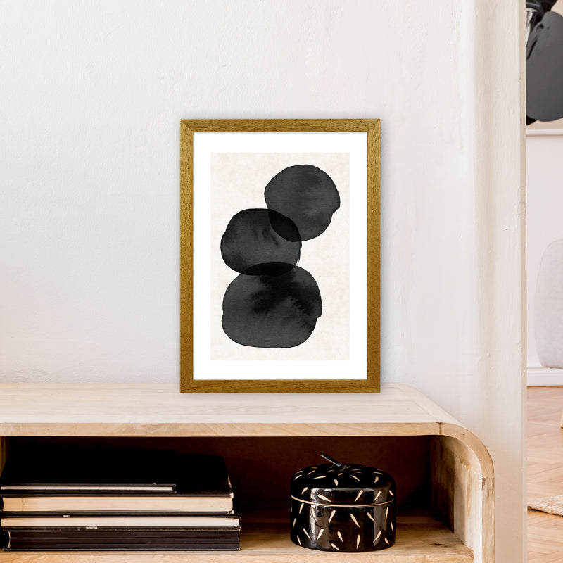 Nude And Pearl Stacked Stones  Art Print by Pixy Paper A3 Print Only