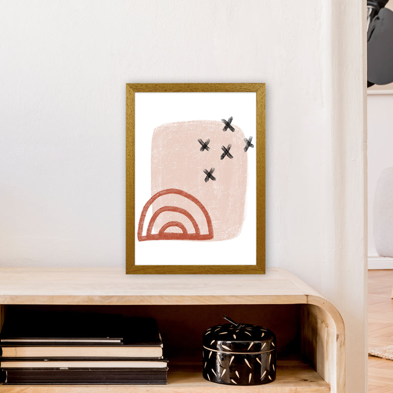Dalia Chalk Red Rainbow  Art Print by Pixy Paper A3 Print Only