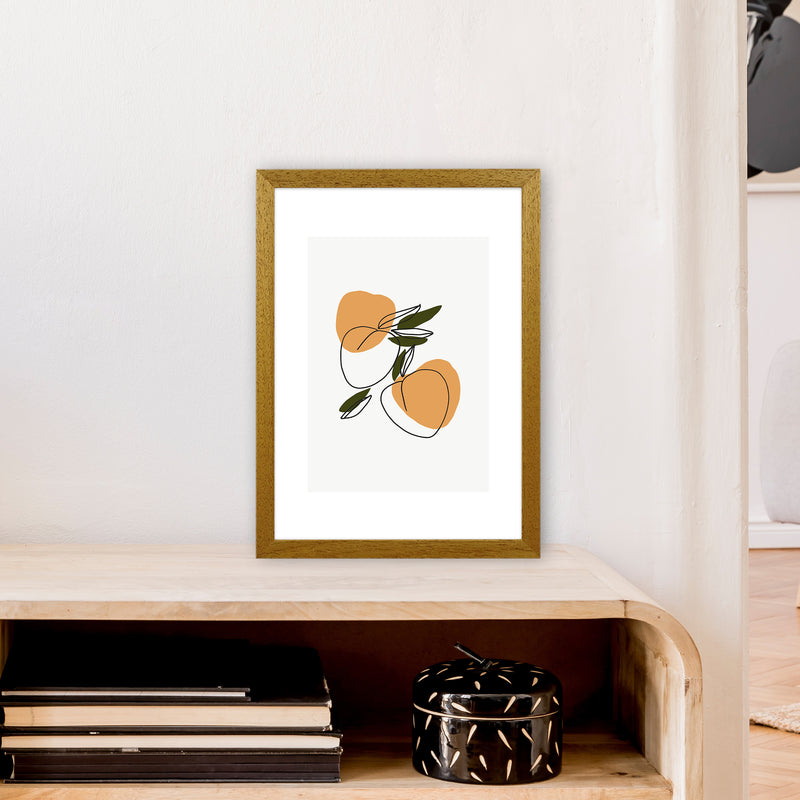 Mica Apricots N3  Art Print by Pixy Paper A3 Print Only