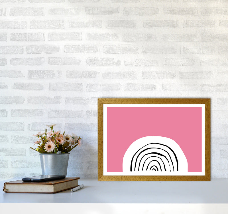 Pink Rainbow Neon Funk  Art Print by Pixy Paper A3 Print Only