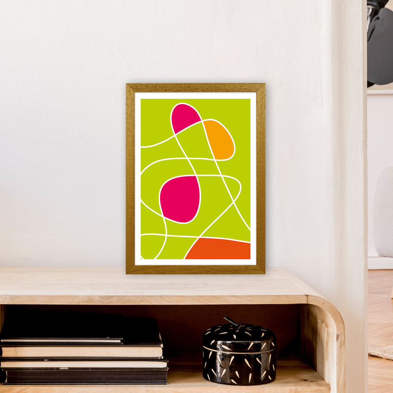Lime Mess Neon Funk  Art Print by Pixy Paper A3 Print Only