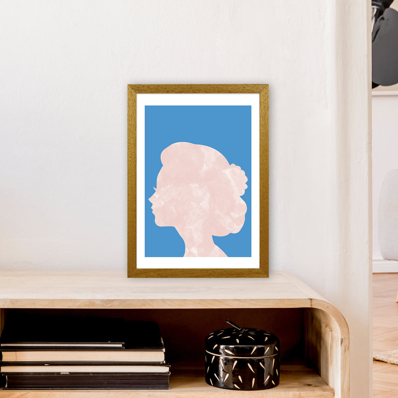 Marble Head Blue  Art Print by Pixy Paper A3 Print Only