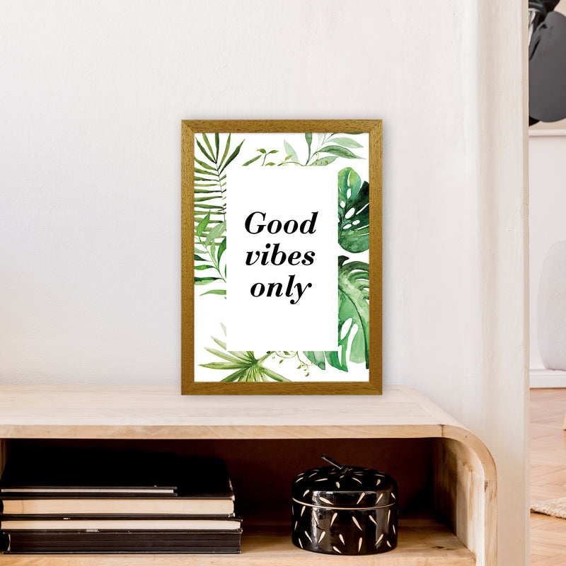 Good Vibes Only Exotic  Art Print by Pixy Paper A3 Print Only
