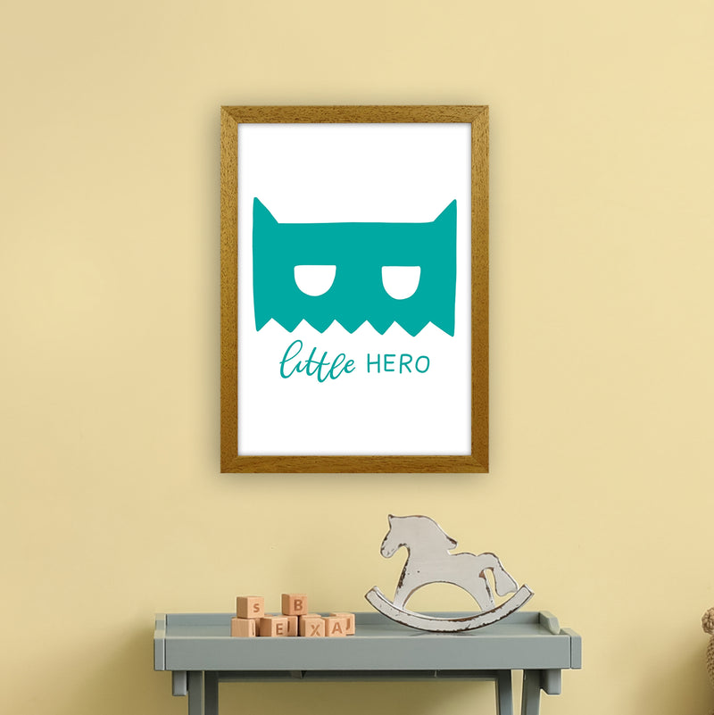 Little Hero Mask Teal Super Scandi  Art Print by Pixy Paper A3 Print Only