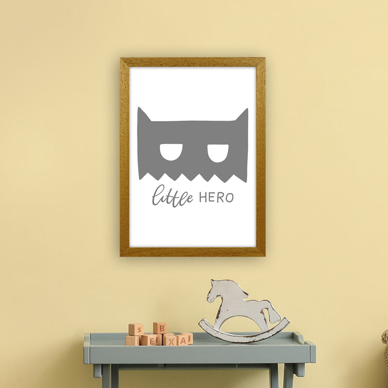 Little Hero Mask Super Scandi Grey  Art Print by Pixy Paper A3 Print Only