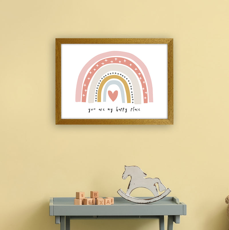 You Are My Happy Place Rainbow  Art Print by Pixy Paper A3 Print Only