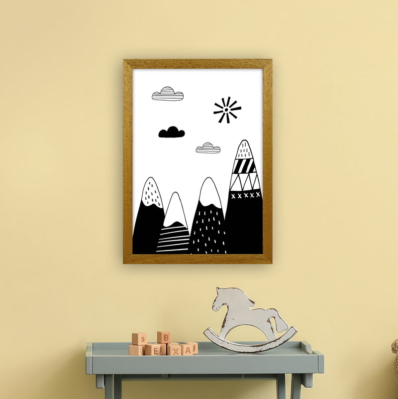 Scandinavian Mountains  Art Print by Pixy Paper A3 Print Only
