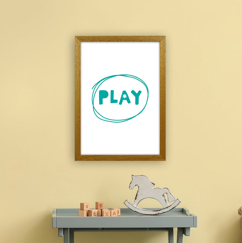 Play Teal Super Scandi  Art Print by Pixy Paper A3 Print Only