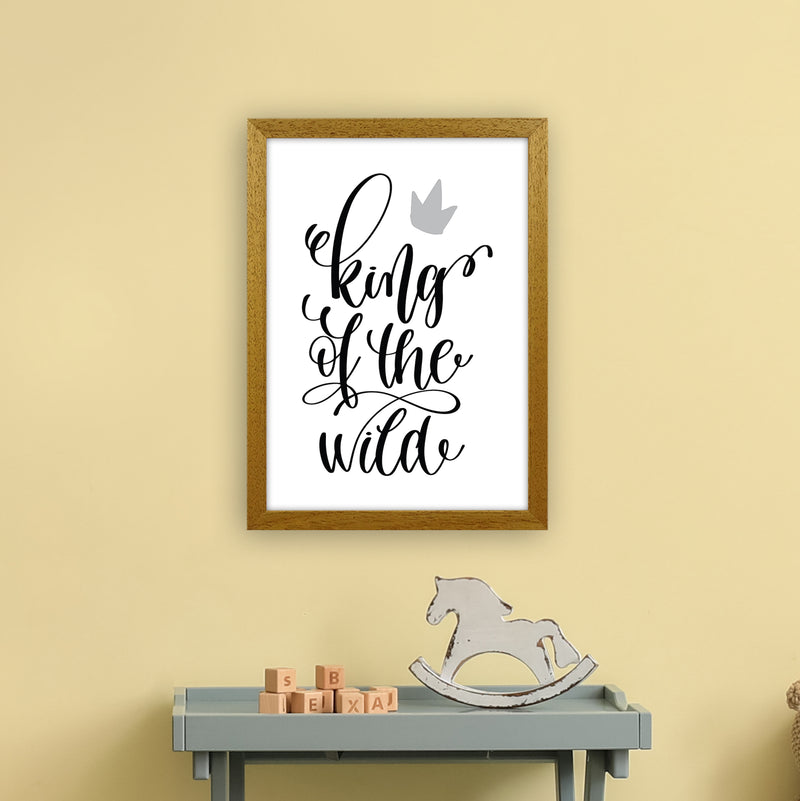 King Of The Wild Black  Art Print by Pixy Paper A3 Print Only