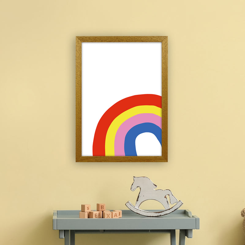 Rainbow In Corner  Art Print by Pixy Paper A3 Print Only