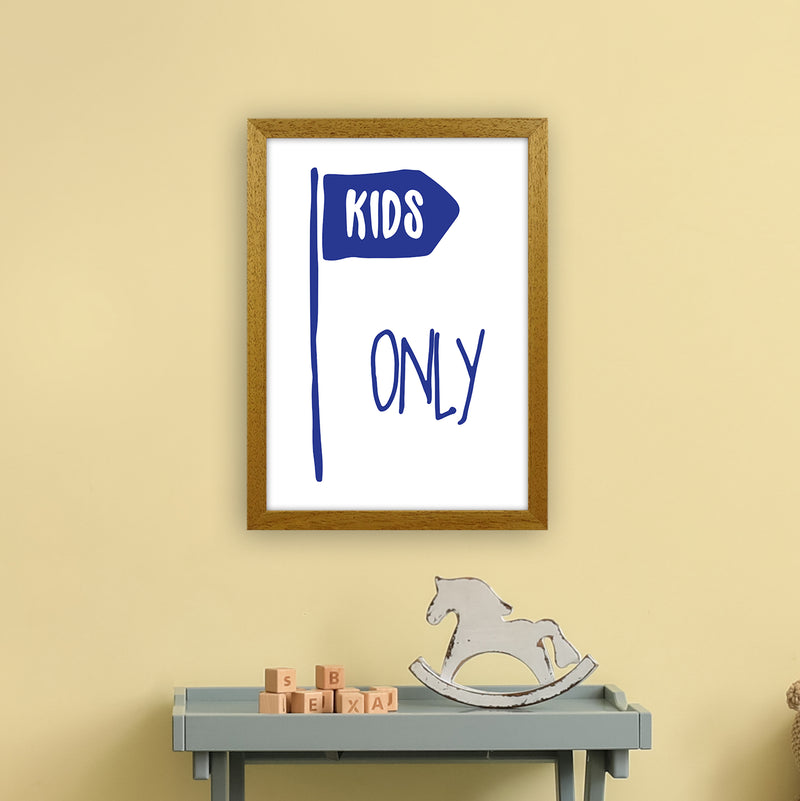Kids Only Navy  Art Print by Pixy Paper A3 Print Only