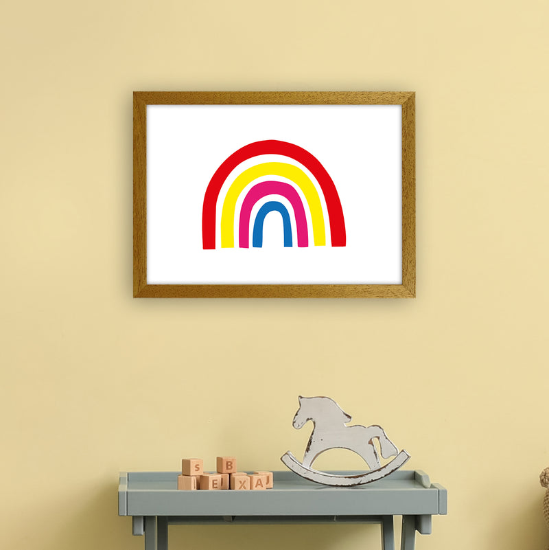 Rainbow Red  Art Print by Pixy Paper A3 Print Only