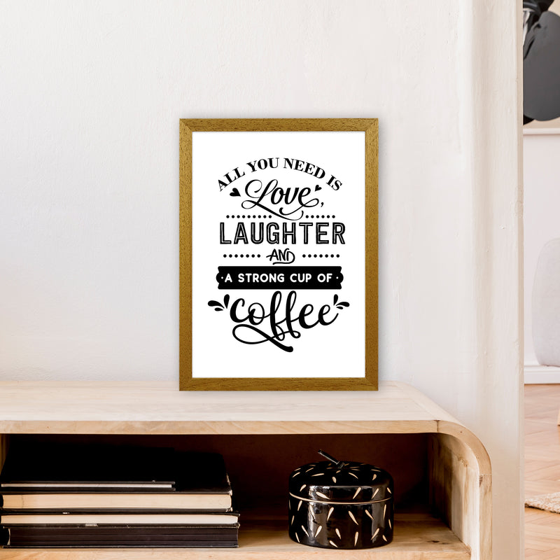 All You Need Is Love And Coffee  Art Print by Pixy Paper A3 Print Only