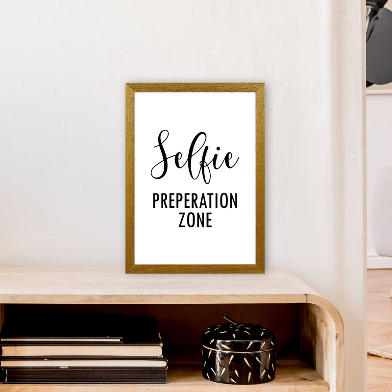 Selfie Preperation Zone  Art Print by Pixy Paper A3 Print Only