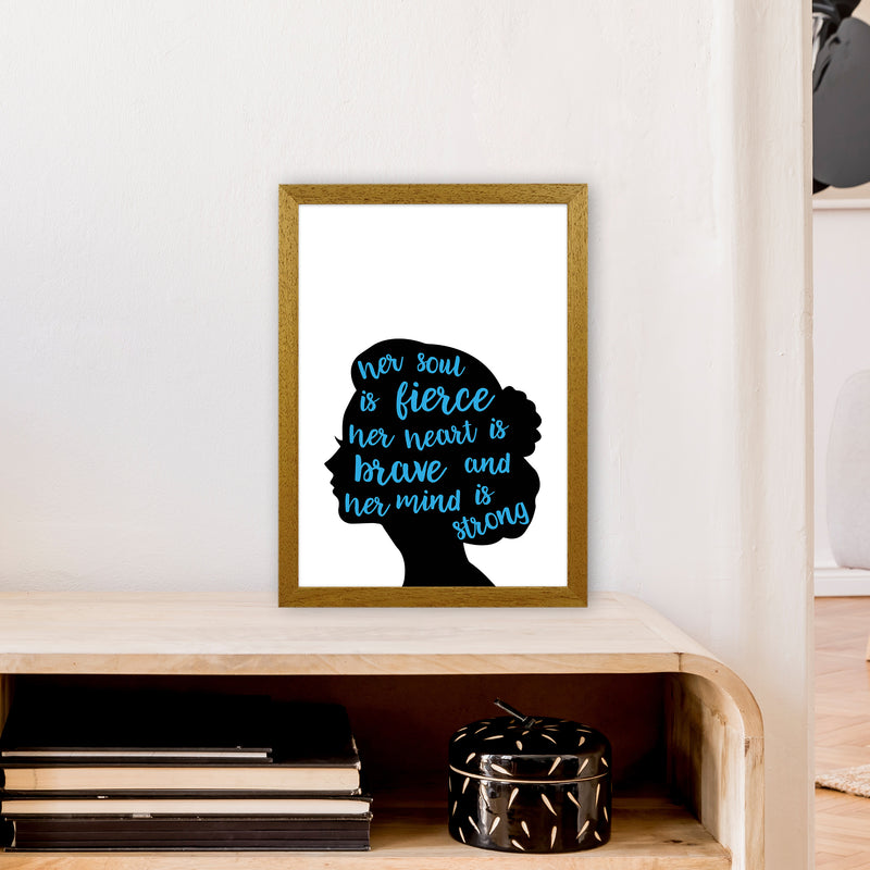 Her Soul Is Fierce Blue  Art Print by Pixy Paper A3 Print Only