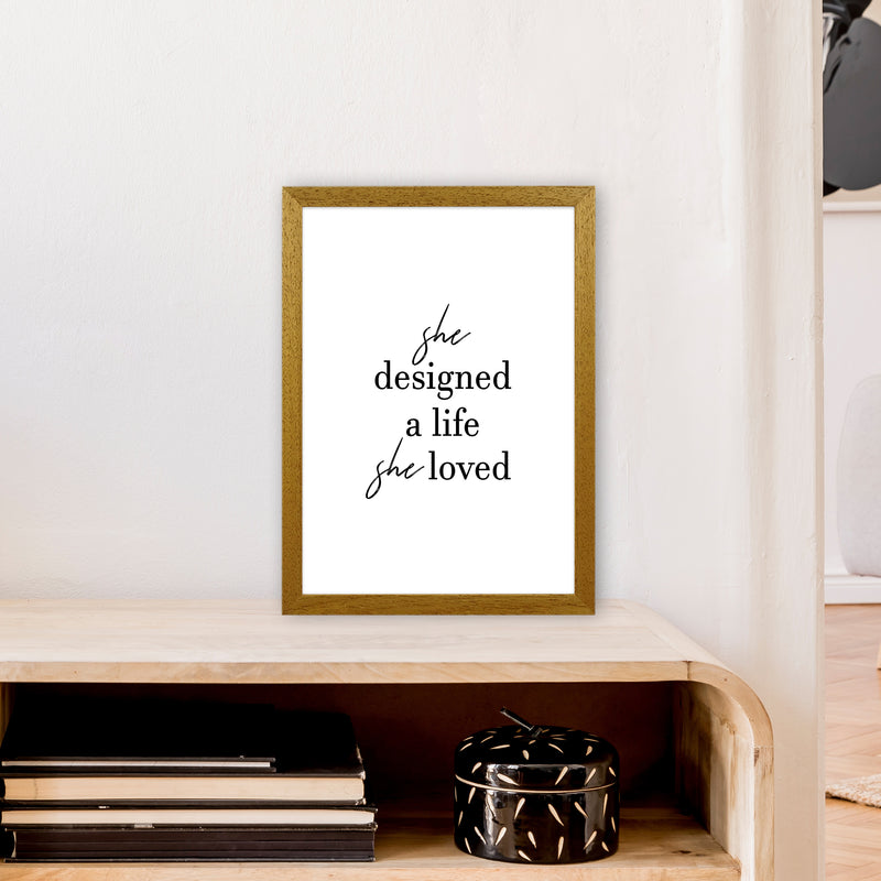 She Designed A Life  Art Print by Pixy Paper A3 Print Only