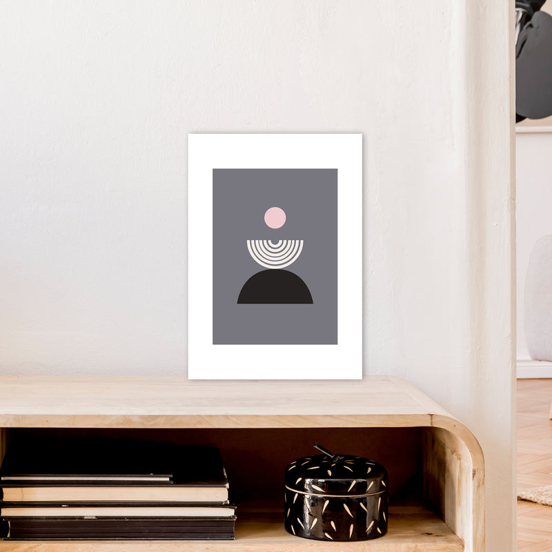 Mila Pink Fountain N9  Art Print by Pixy Paper A3 Black Frame