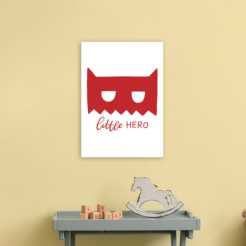 Little Hero Mask Red Super Scandi  Art Print by Pixy Paper A3 Black Frame