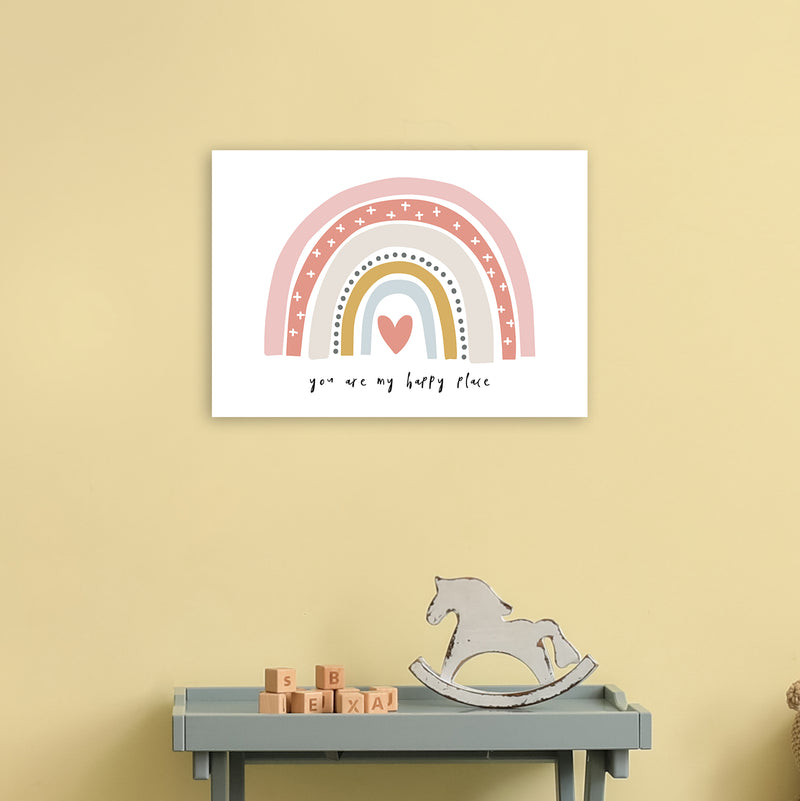 You Are My Happy Place Rainbow  Art Print by Pixy Paper A3 Black Frame