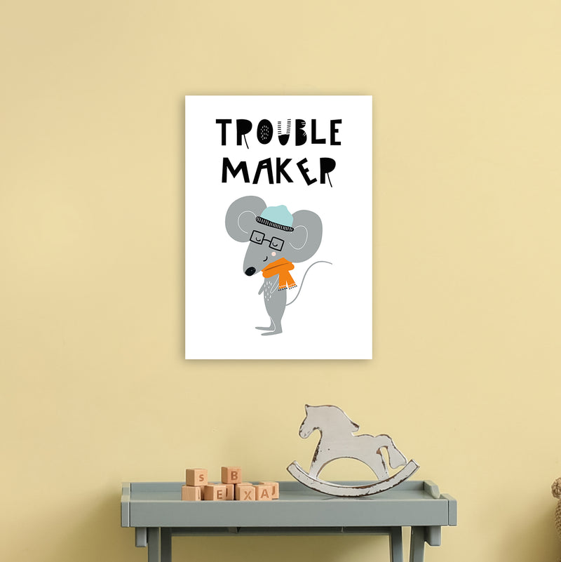 Trouble Maker Animal Pop  Art Print by Pixy Paper A3 Black Frame