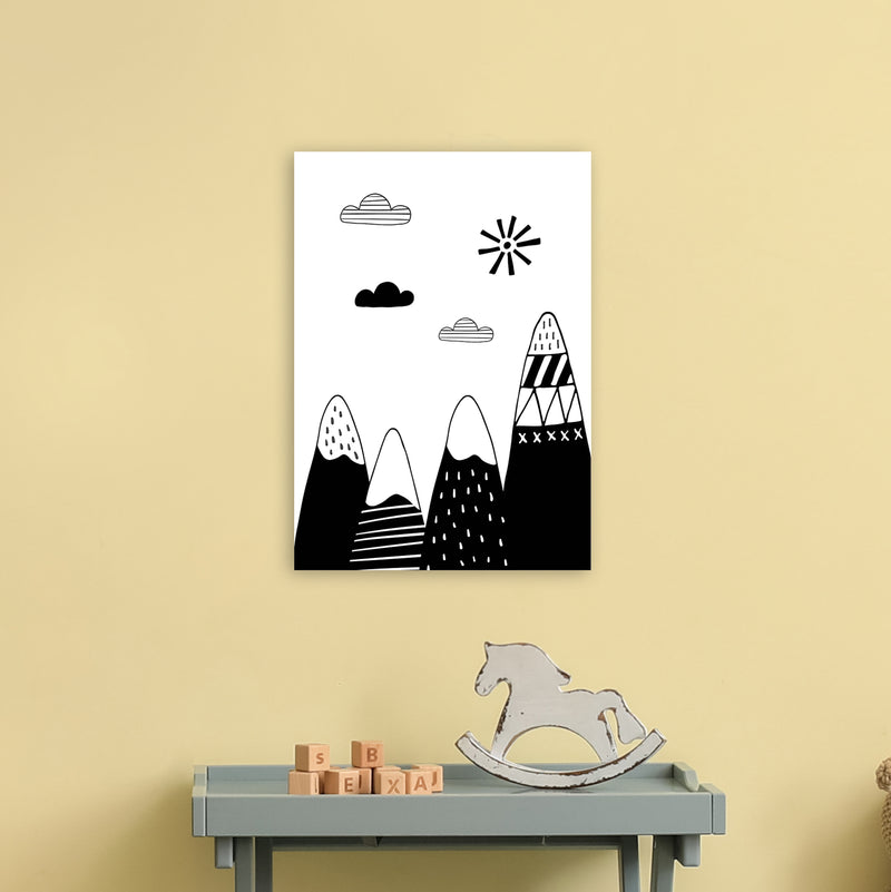 Scandinavian Mountains  Art Print by Pixy Paper A3 Black Frame