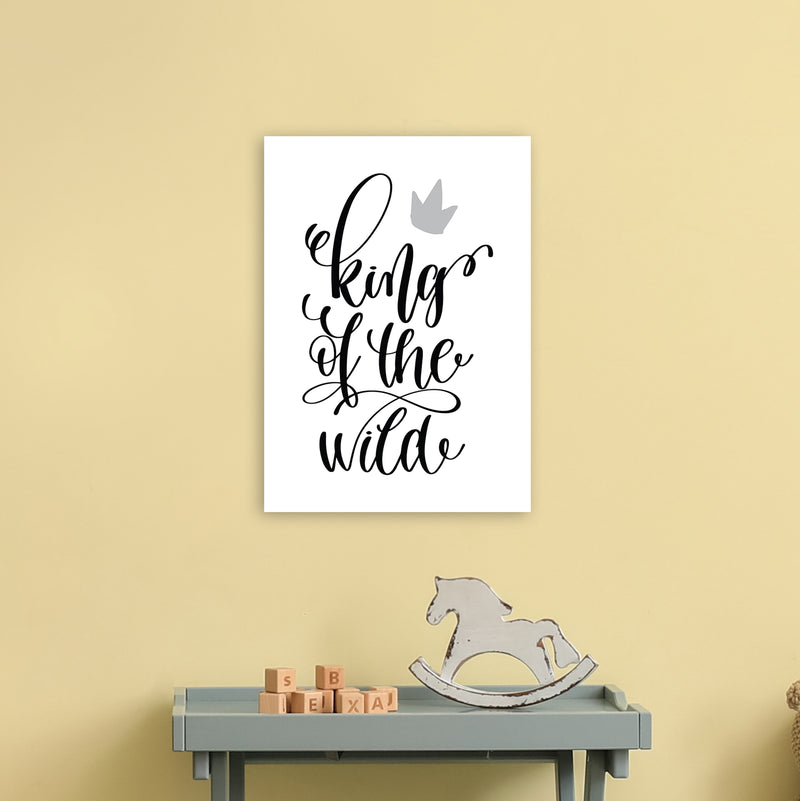 King Of The Wild Black  Art Print by Pixy Paper A3 Black Frame