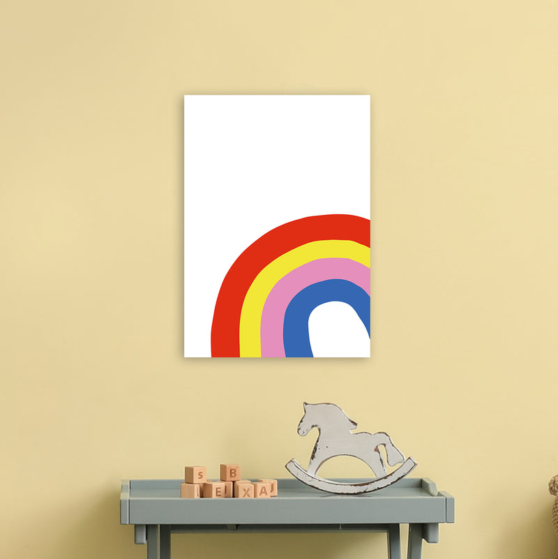 Rainbow In Corner  Art Print by Pixy Paper A3 Black Frame