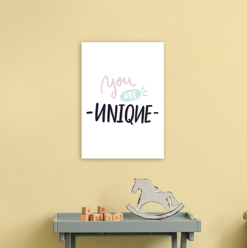 You Are Unique  Art Print by Pixy Paper A3 Black Frame