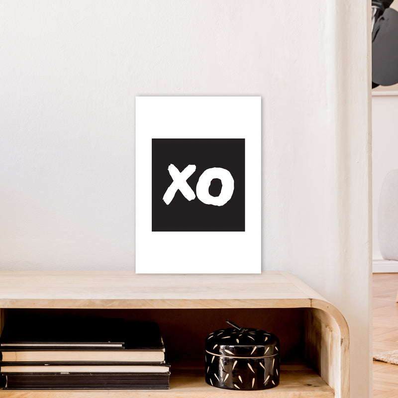 Xo Black Box  Art Print by Pixy Paper A3 Black Frame