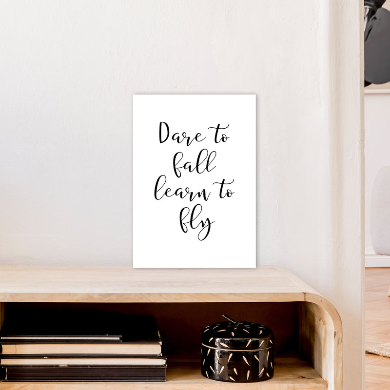 Dare To Fall  Art Print by Pixy Paper A3 Black Frame