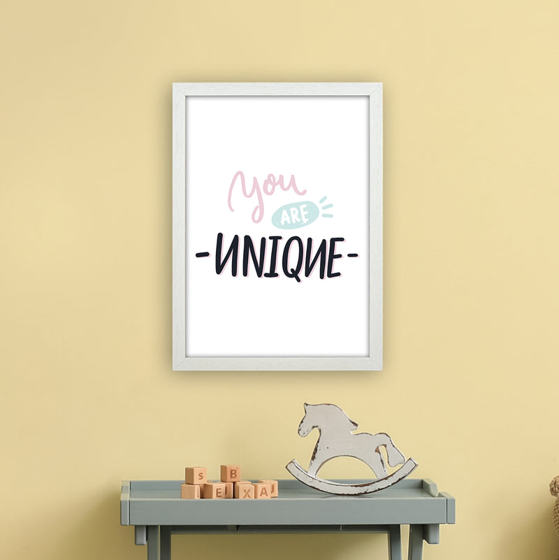 You Are Unique  Art Print by Pixy Paper A3 Oak Frame