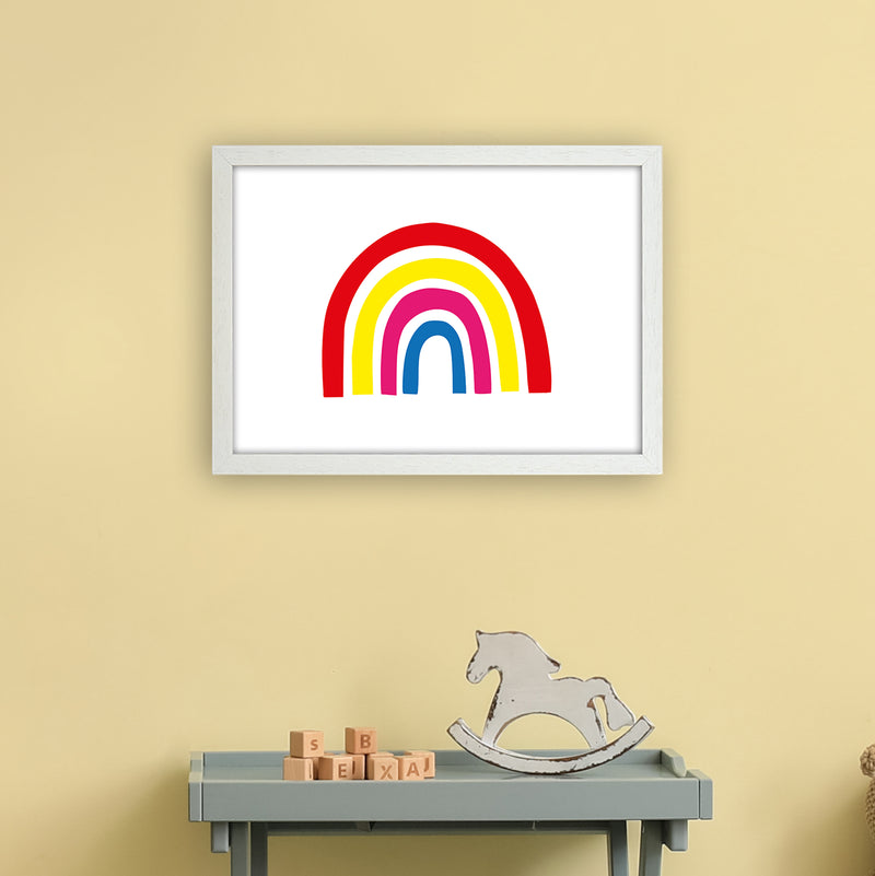 Rainbow Red  Art Print by Pixy Paper A3 Oak Frame