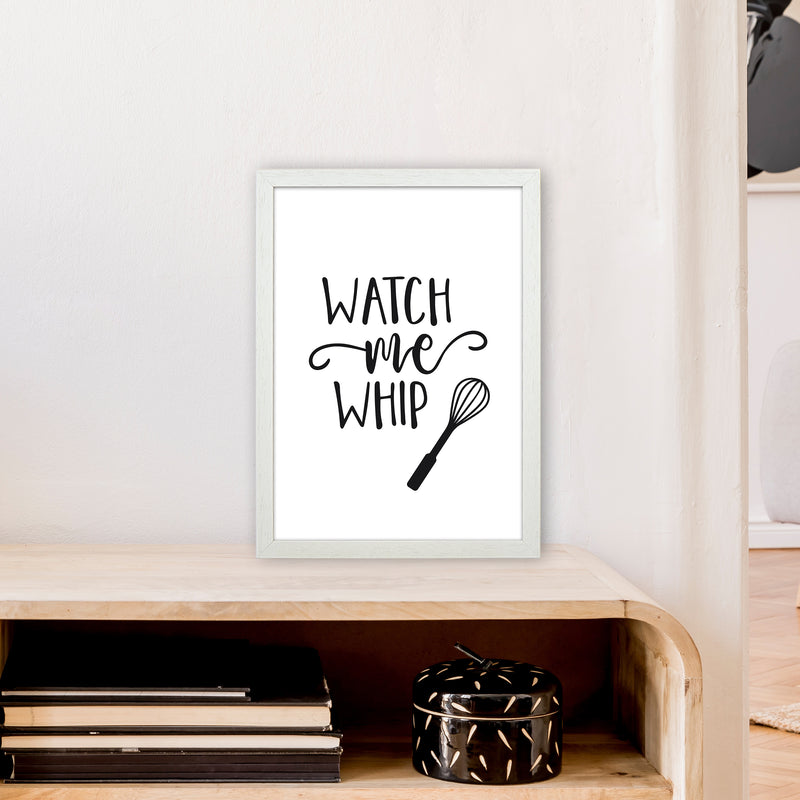 Watch Me Whip  Art Print by Pixy Paper A3 Oak Frame