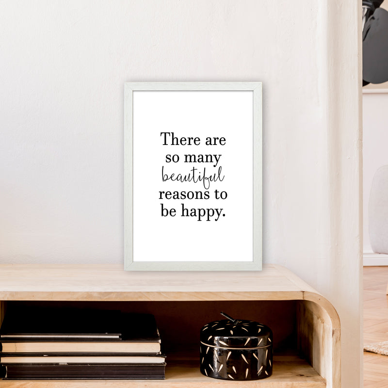 There Are So Many Beautiful Reasons  Art Print by Pixy Paper A3 Oak Frame